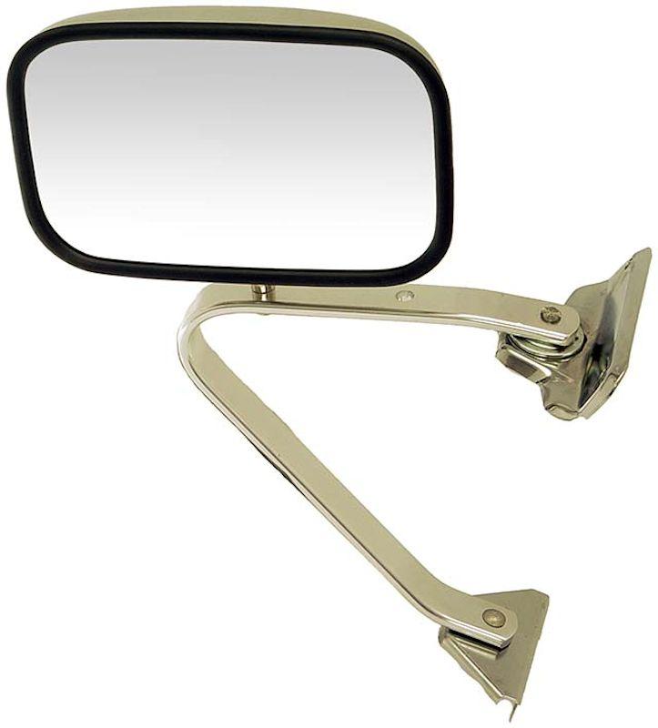 1980 1986 ford bronco and f series truck manual mirror chrome left rh shop broncograveyard com 1990 Ford Bronco 1986 Ford Bronco
