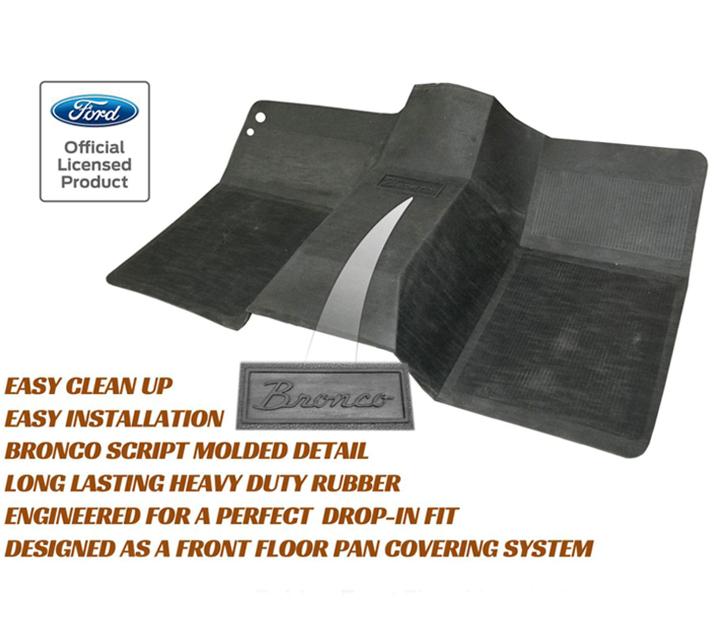 Ford Bronco Oem Front Rubber Floor Mat At Bronco Graveyard