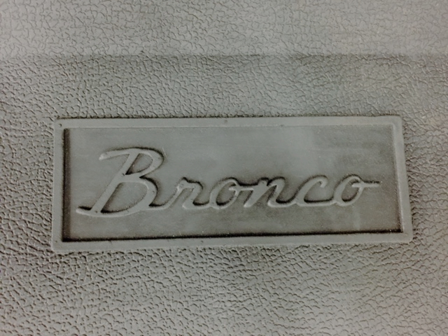Ford Bronco Oem Front Rubber Floor Mat At Bronco Graveyard