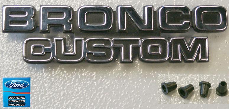1978-1979 Ford Bronco Bronco Custom Emblem-Broncograveyard com