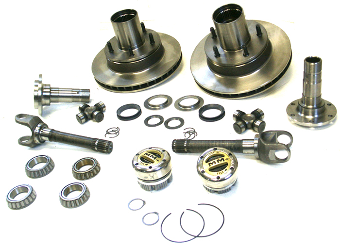 1980 92 ford bronco front end rebuild kit broncograveyard com rh shop broncograveyard com Ford Bronco Rear Axle Stock Ford Bronco Front Axle