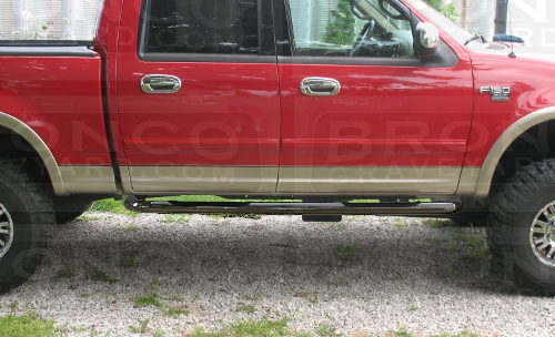 97 03 F150 98 99 F250 Light Duty Black Step Bars Nerf Bar