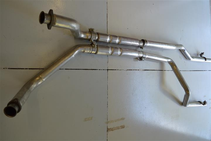 "New Ford Bronco >> 289/302 Dual Exhaust System 2.5"", To Hedman Painted Headers-Broncograveyard.com"