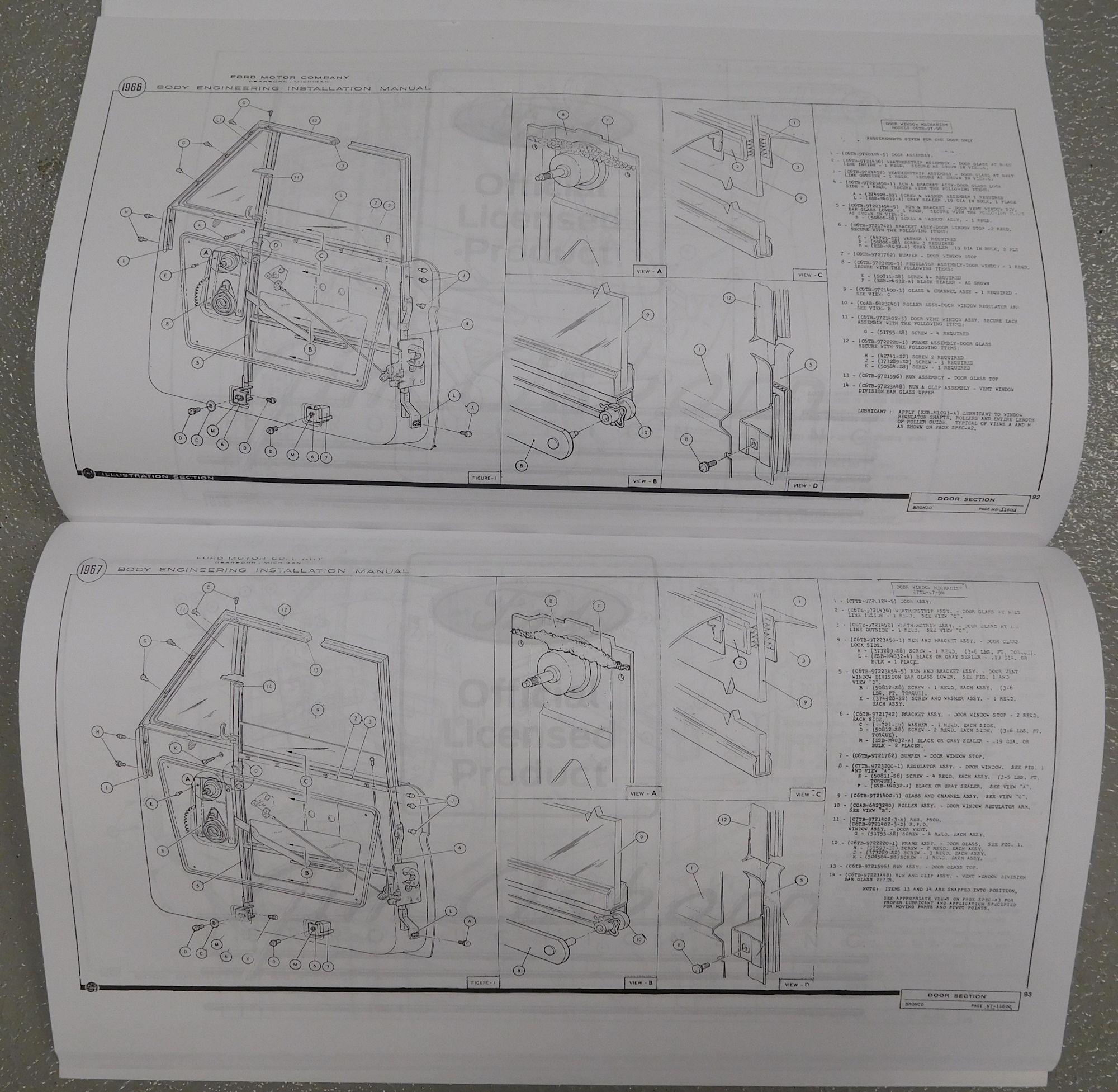 Bronco Body  U0026 Interior Assembly Manual