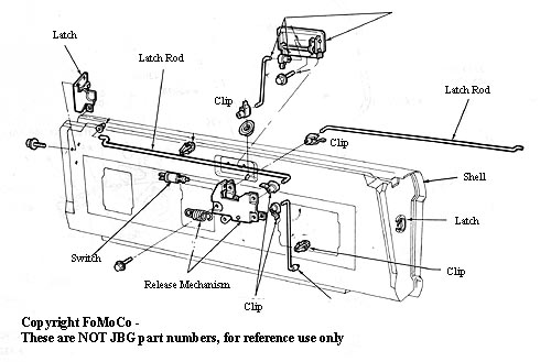 TALDIARELEASEMECH 1978 1979 ford bronco tailgate lock cylinder wire clip 1978 bronco rear window wiring diagram at n-0.co