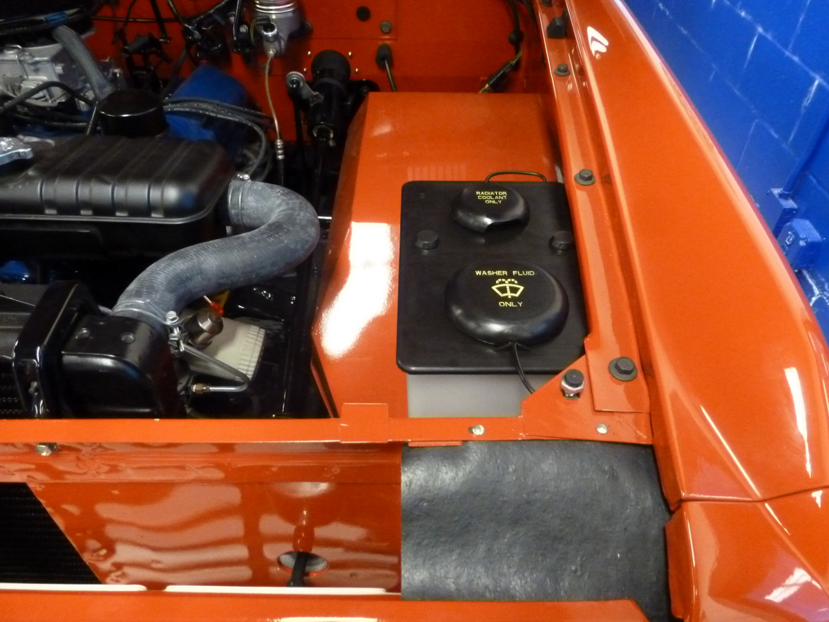 1966 1977 Ford Bronco Dual Wiper Solvent Coolant Overflow