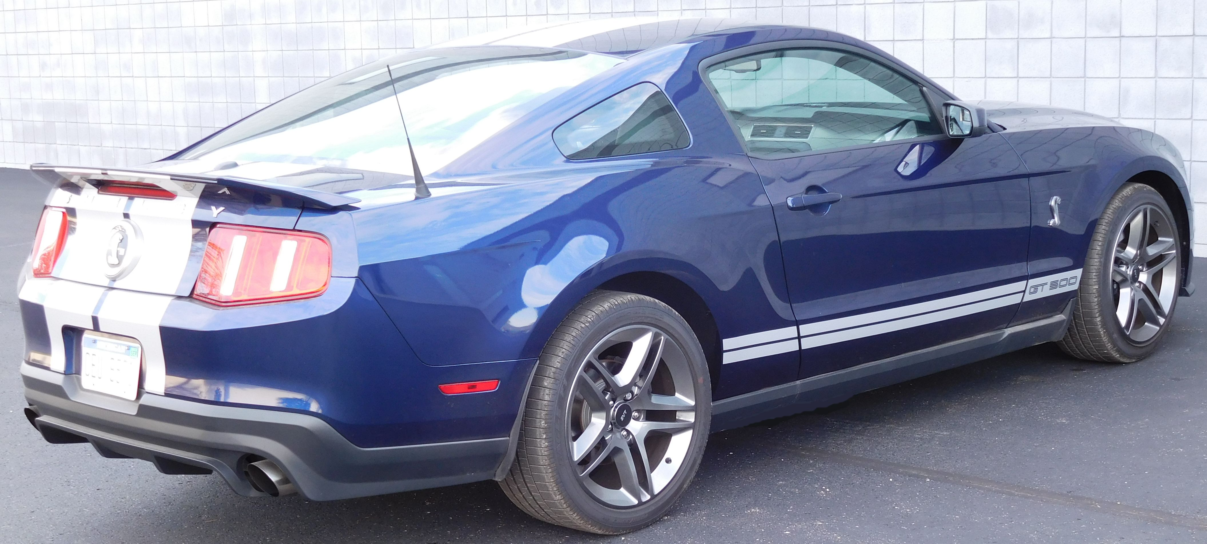 2011 Mustang Cobra Gt500 Blue White For Sale Broncograveyard Com