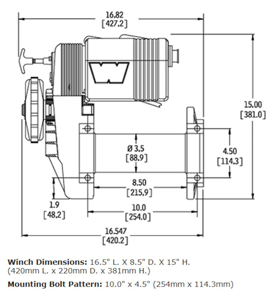 Upright Warn Winch 8274 Wiring Diagram Schematics 38631 Electric Vehicle Recovery Broncograveyard Com 8000