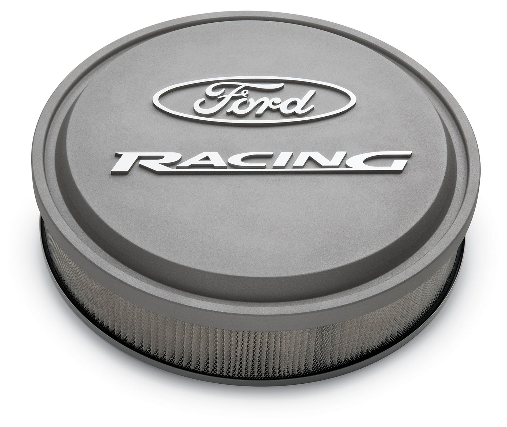Racing Air Cleaners : Ford racing slant edge alumimum air cleaner kit cast gray