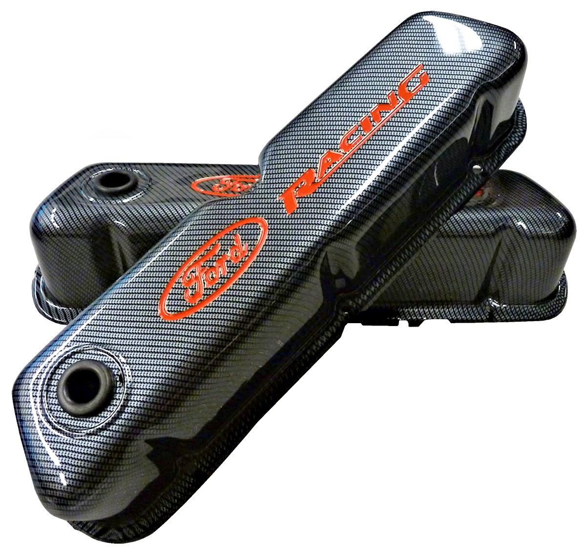 Ford Racing Valve Covers Carbon Fiber/ Red Letters