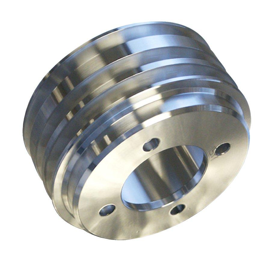 Polished Aluminum Crankshaft Pulley-Broncograveyard.com