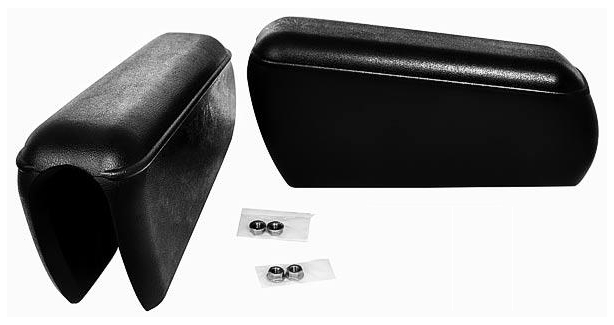 68-77 Rear Seat Black Armrests