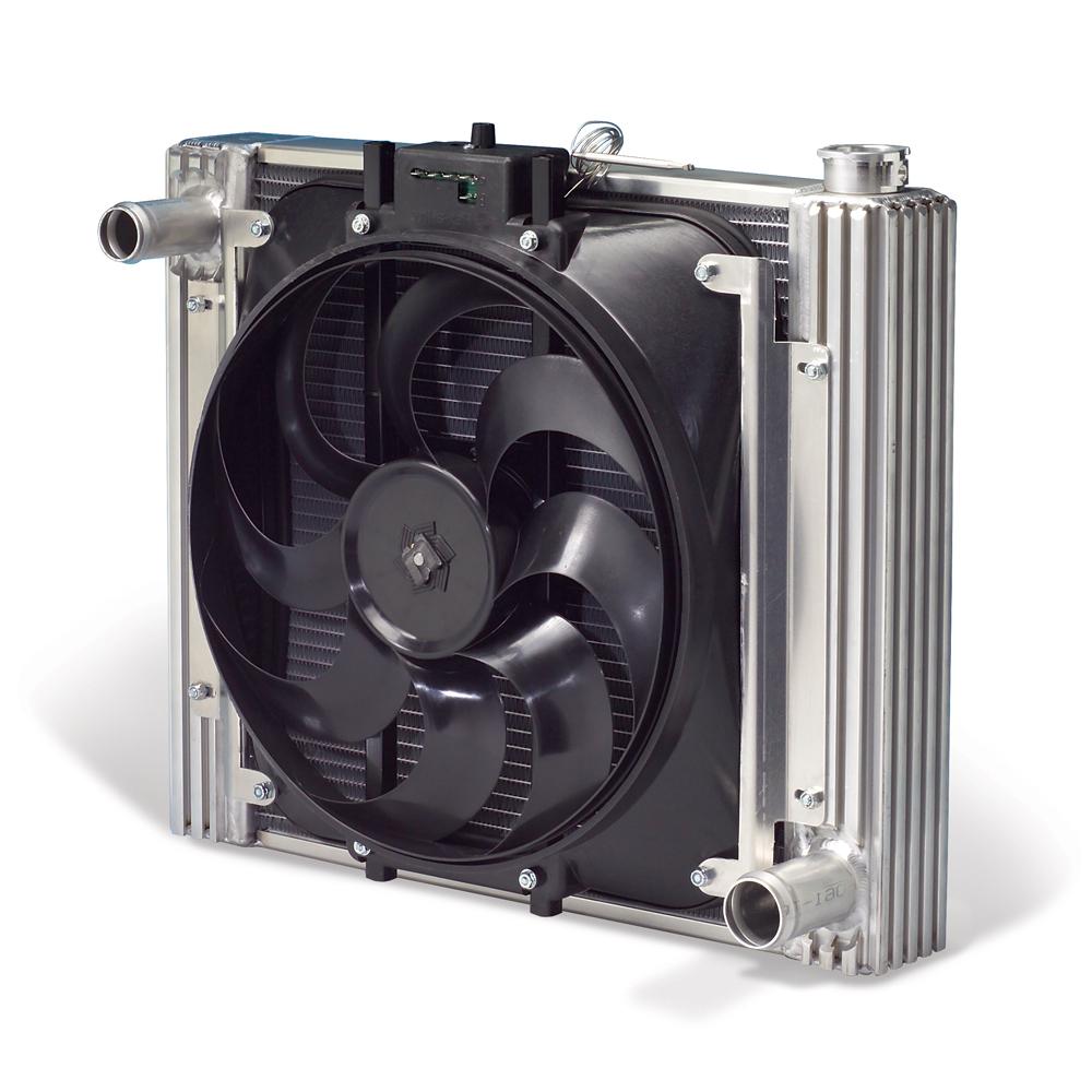 Bronco Flex A Lite Aluminum Radiator W Electric Fan