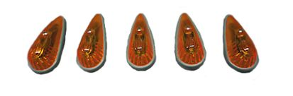 1973-1976 F Series Truck Roof Marker Light, Amber Set of 5