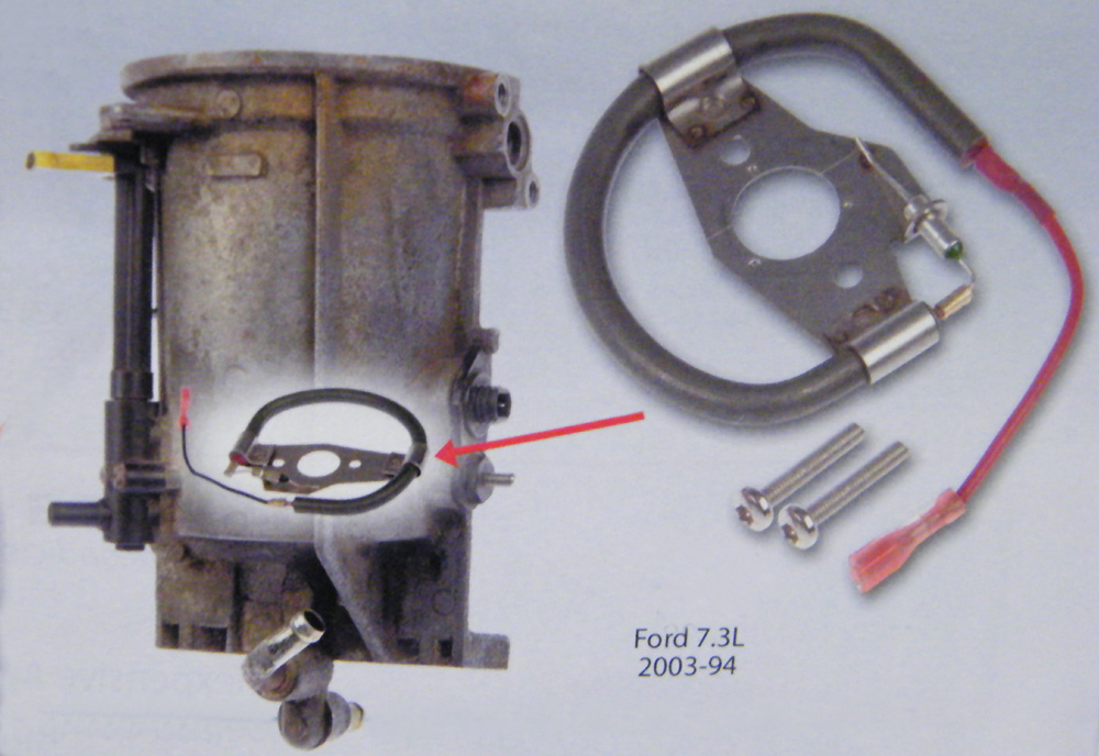 Ford F250 Fuel Tank Size >> 1994-2003 Ford Super Duty 7.3L Diesel Fuel Heating Element ...