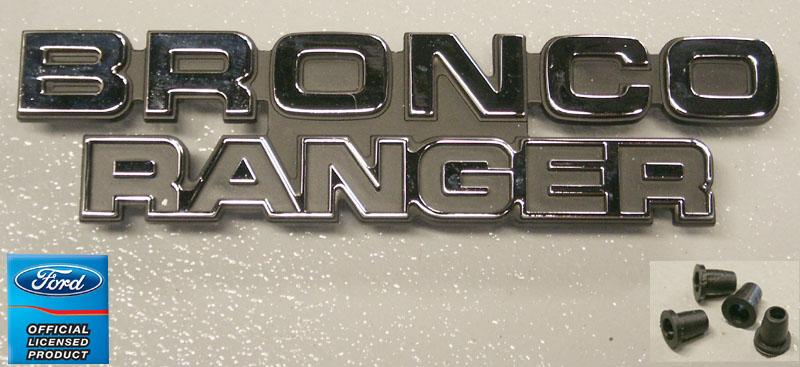 1978 1979 Ford Bronco Bronco Ranger Emblem Broncograveyard Com
