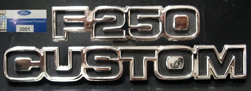 1977-1979 Ford F Series Truck F250 Custom Emblem