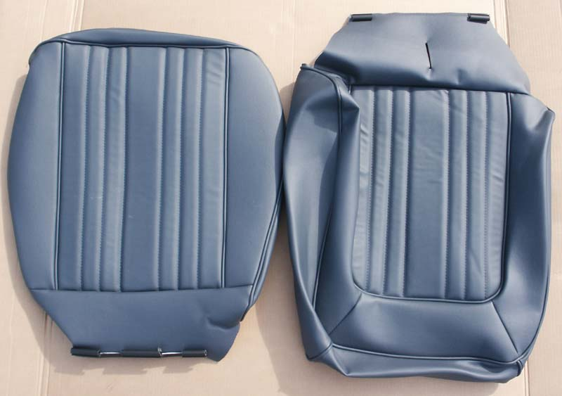 1978 79 Bronco Low Back Vinyl Seat Covers Blue Pair