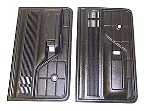 1973-1979 Ford Bronco & Ford Truck Door Trim Panels Black (Pair)