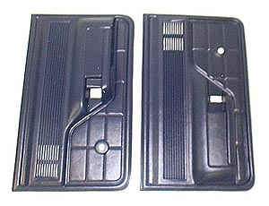 1973-1979 Ford Bronco and F Series Truck Door Trim Panels, Blue (Pair)