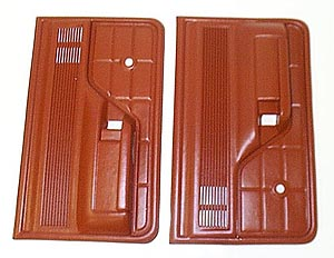 1973-1979 Ford Bronco and F Series Truck Door Trim Panels, Red (Pair)