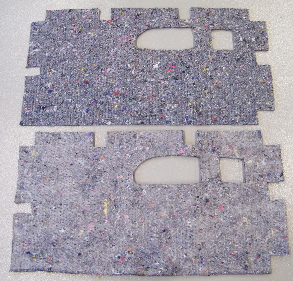 1987 1991 ford bronco and f series truck door insulation panels pair