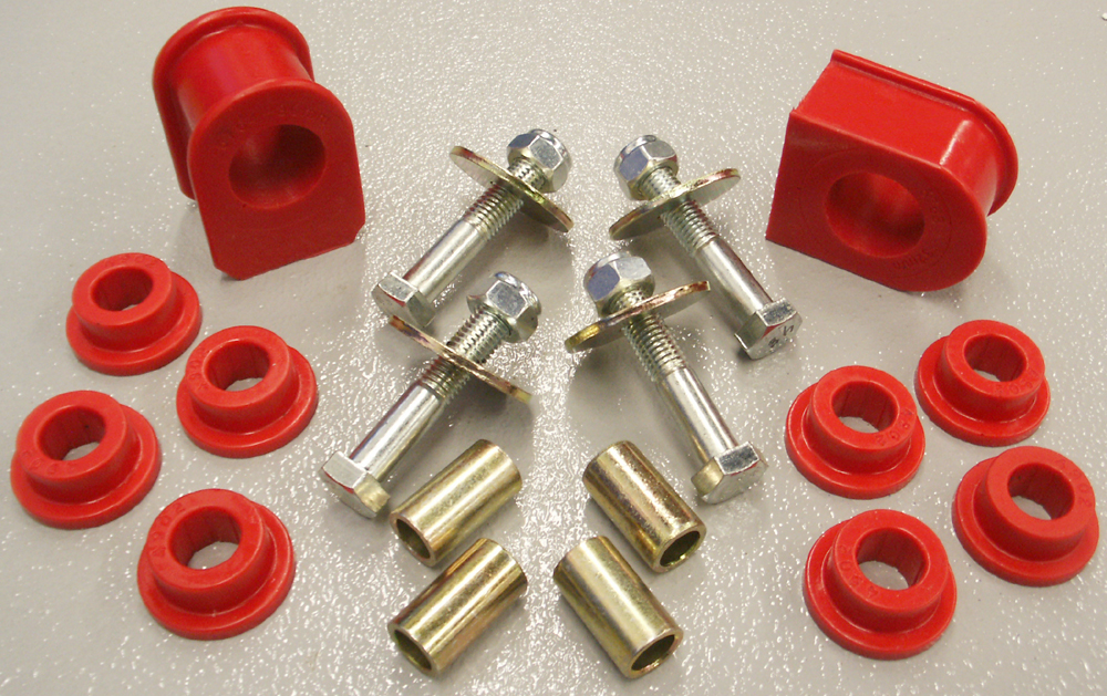 1999 04 F250 Rear Sway Bar Bushing Set Red