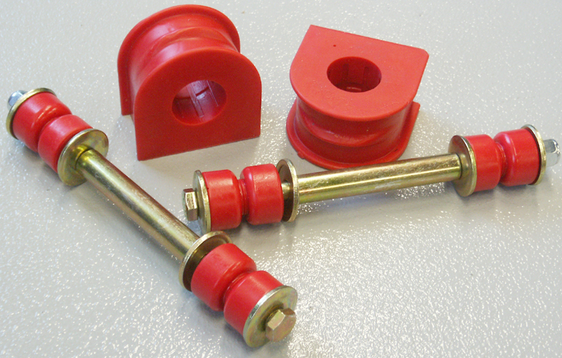 99 04 F250 F350 2wd Front Sway Bar Bushing Set Red