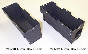 71 to 77 bronco glove box liner cardboard w fuse box hole. Black Bedroom Furniture Sets. Home Design Ideas