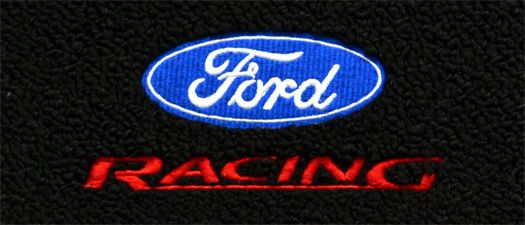Ford Racing Embroidered Logo Blue Ford Oval Red Racing