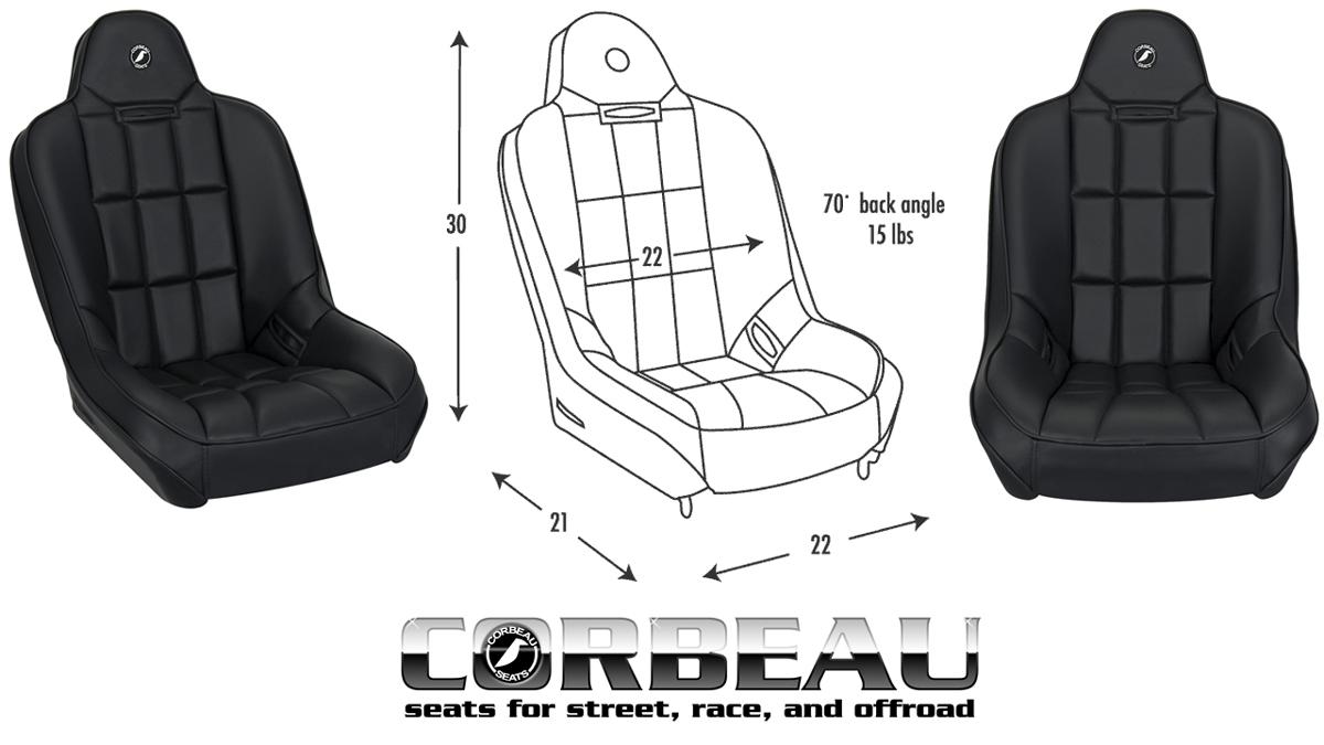 Corbeau Baja Ss Seat Tweed Center Broncograveyard Com