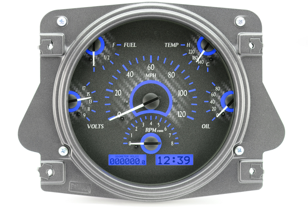66 to 77 Bronco Dakota Digital Instrument Cluster VHX Carbon