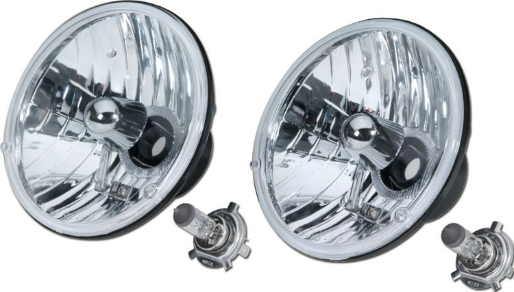 1966-1978 Ford Bronco & Ford Truck H4 Headlight Conversion Lights Round