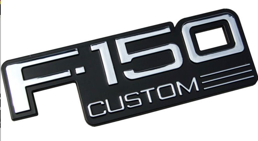1992-1996 Ford F-Series Truck, F150 Custom Emblem