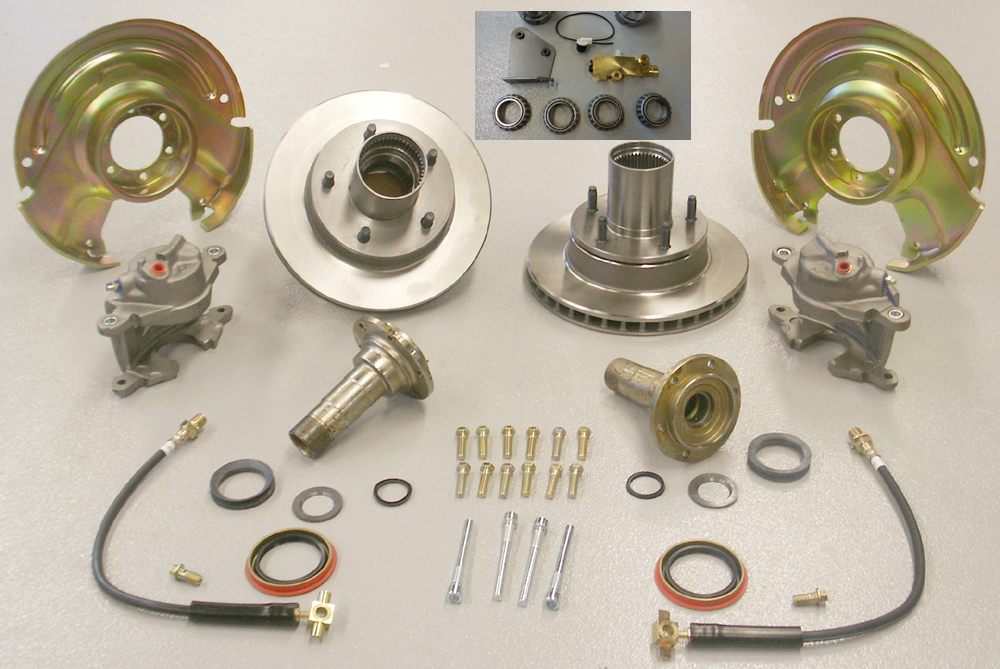 Early Ford Bronco Front Disc Brake Conversion Kit w/ Pro Valve & Bracket
