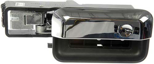 Interior Door Handle Rear Right 04-08 Chrome Lever, Black Ho