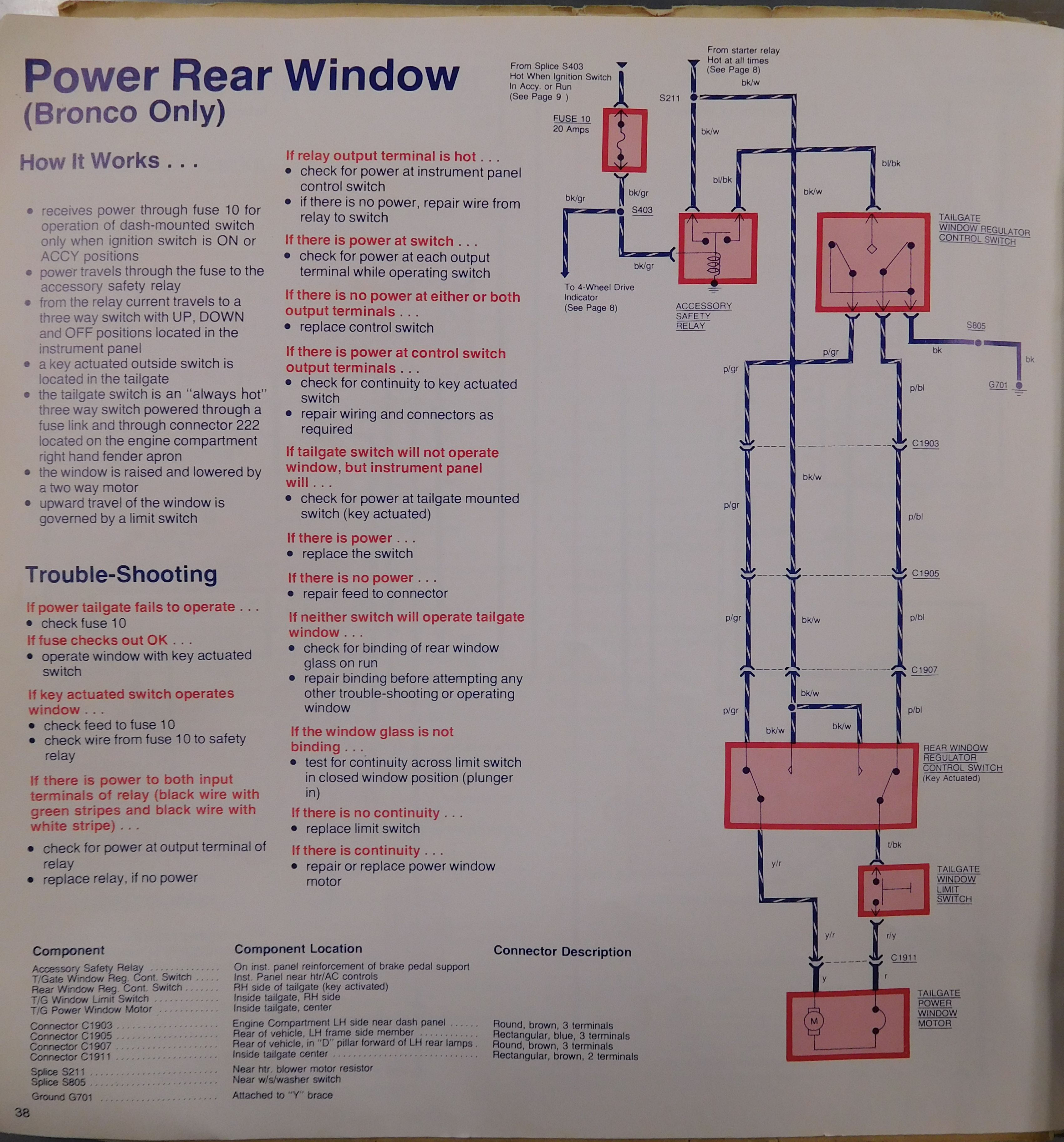 1979 ford rear window wire diagram 2004 mitsubishi endeavor rear window wiring diagram search results how to install replace tailgate handle ford ...