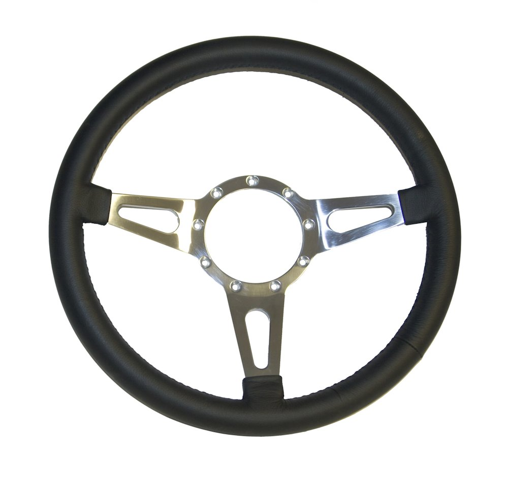 Mustang Svo Emblem Black 79 18: Black Feroce 15in Steering Wheel 9 Hole-Broncograveyard.com