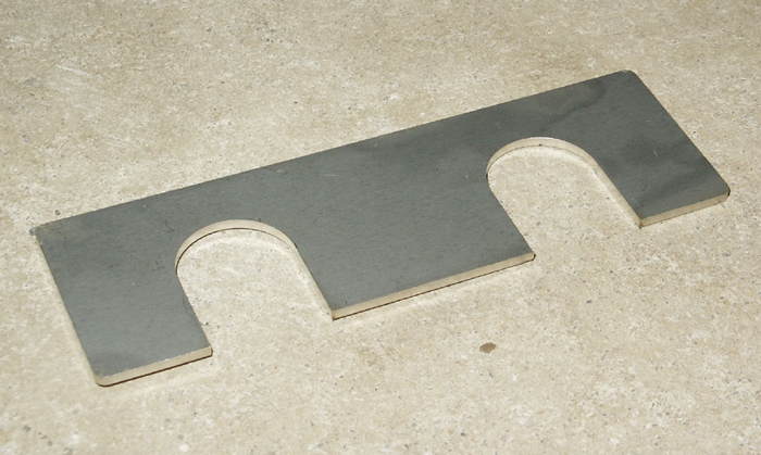 1966-1977 Ford Bronco Hood Shim, Stainless Steel, Each