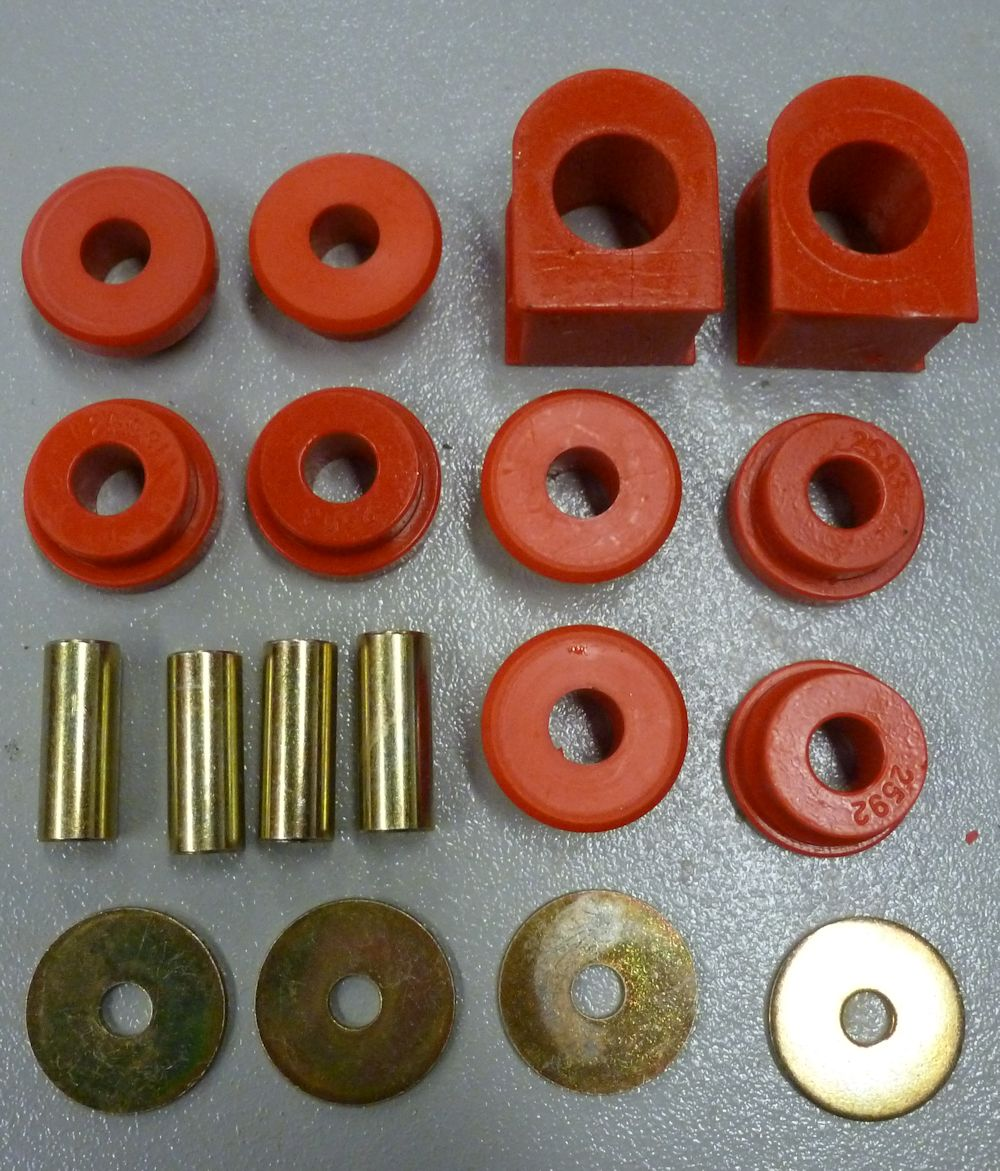 99 04 F250 F350 Front Sway Bar Bushing Set Red