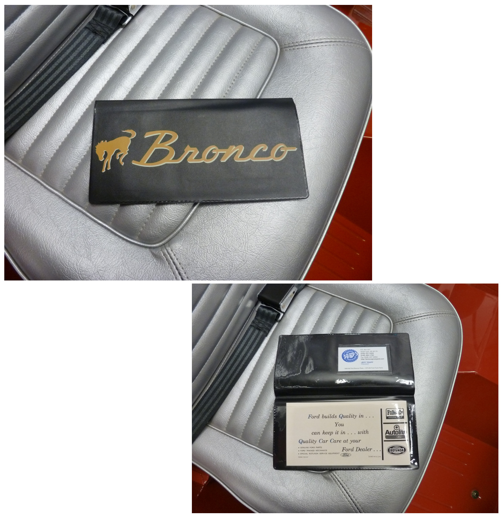 bronco owners manual wallet   broncograveyardcom